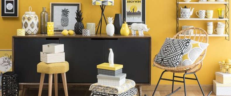 utilisation du jaune dans un salon